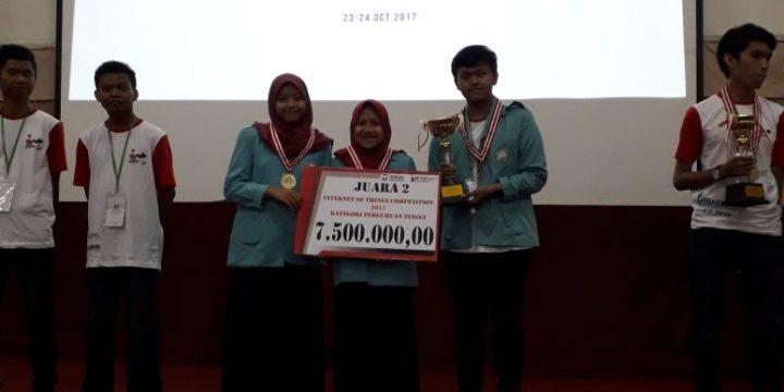 Tim Mahasiswa Teknik Elektro UNS Sabet Medali di IoT Telkom University