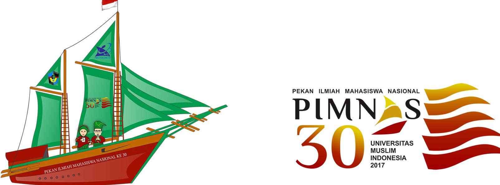 logo pimnas ke 30 tahun 2017 beserta maskot
